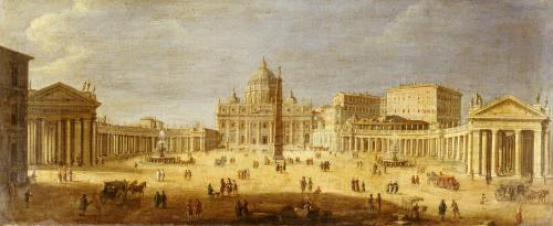 Piazza S.Pietro, Rome by Gaspar Van Wittel