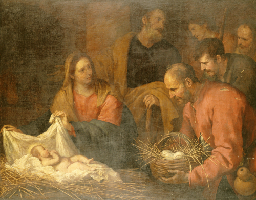 The Adoration Of The Shepherds by Giovanni Andrea de Ferrari