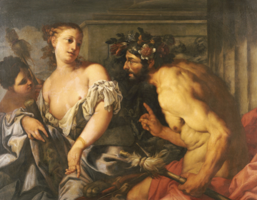 Hercules And Omphale by Antonio Zanchi