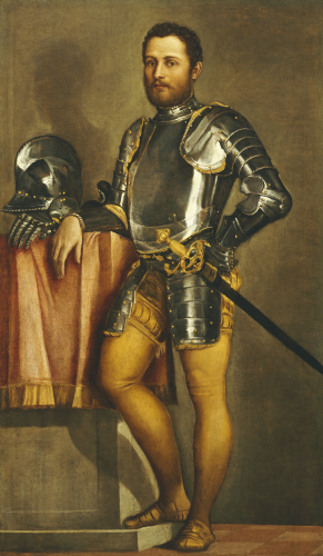 Gentleman Wearing Half-Armour, Trunk Hose And A Sword by Paolo Caliari Veronese
