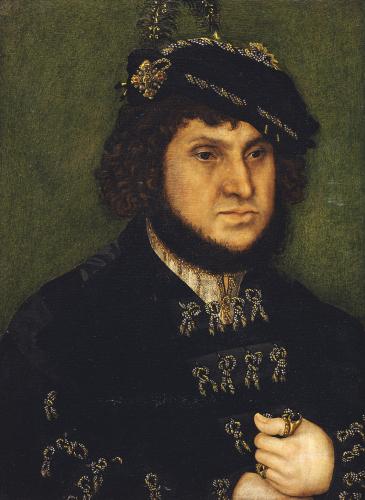 Portrait Of Kurfust Herzog Johann der Bestandige Von Saschen by Lucas Cranach