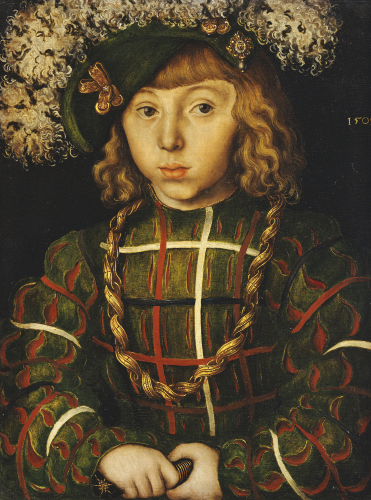 Portrait Of Johann Friederich, Later Kur- Fust Der Grossmutige Von Saschen, 1509 by Lucas Cranach