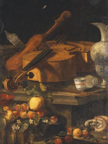 A Violin, A Cello, A Bow, A Sheet by Christoforo Munari