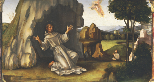 Saint Francis Receiving The Stigmata by Francesco Raibolini Il Francia