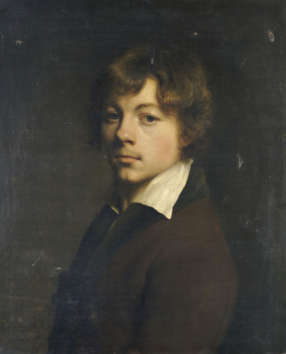 Portrait Of The Artist, In A Brown Jacket With A Black Collar, 1804 by Michel-Martin Drolling