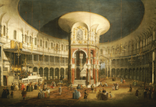 The Interior Of The Rotunda, Ranelagh by Giovanni Canaletto