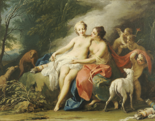 Jupiter And Callisto by Jacopo Amigoni