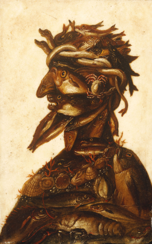 Anthropomorphic Heads Representing One Of The Four Elements - Water by Giuseppe Arcimboldo