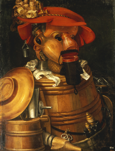 The Waiter: An Anthropomorphic Assembly Of Objects Related To Winemaking.(1527-1593), 1574 by Giuseppe Arcimboldo