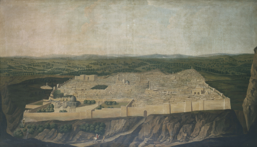 A Panoramic View Of Jerusalem by Jean-Baptiste Vanmour