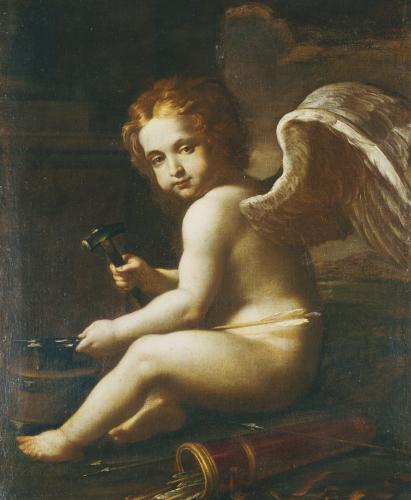 Cupid Sharpening His Arrows by Giovan Francesco Gessi