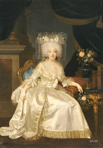 Portrait Of Louise Marie Josephine De Savoie, Comtesse De Provence, 1753 by Joseph Boze