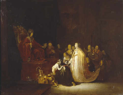 The Queen Of Sheba Before King Solomon by Jacob Willemsz de Wett