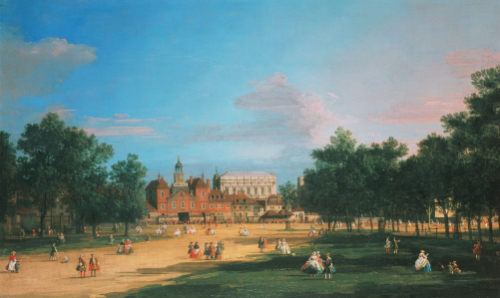 London: The Old Horse Guards And The Banqueting Hall, 1749 by Giovanni Canaletto