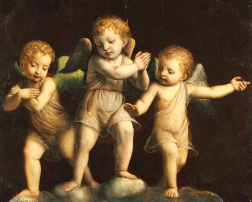 Three Cherubs. Follower Of Bernandino Luini (1475-1532) by Christie's Images