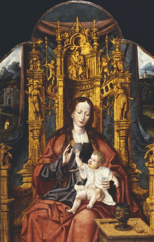 The Virgin And Child Enthroned by Christie's Images