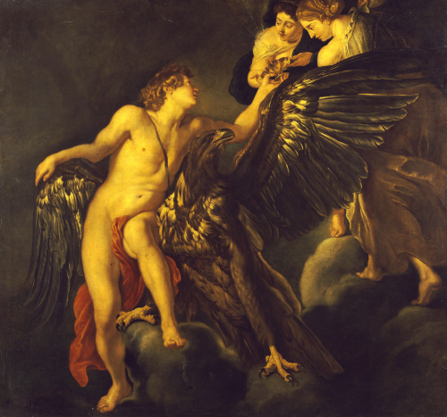 The Rape Of Ganymede by Christie's Images