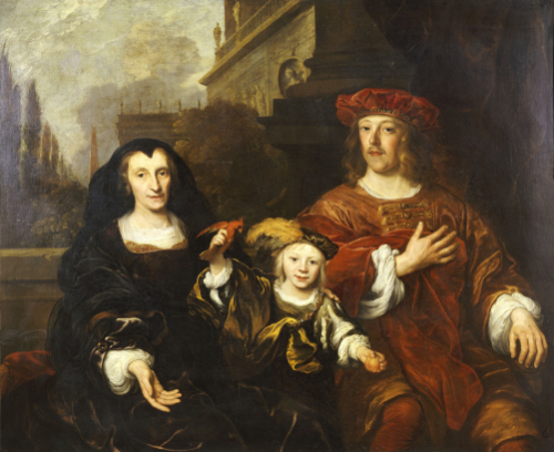 A Group Portrait Of An Elderly Woman, 1649 by Louis Vallee