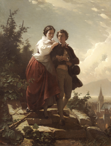 Hermann And Dorothea, 1872 by Arthur Georges Baron Von Ramberg