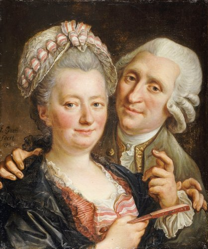 Portrait Of A Gentleman And His Wife, Bust Length by Francois Guerin