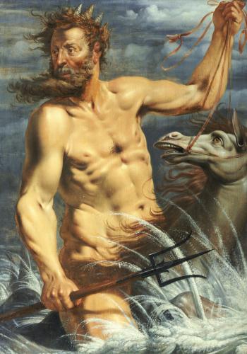 Neptune On A Horse, 1619 by Werner Jacobsz Van Den Valckert