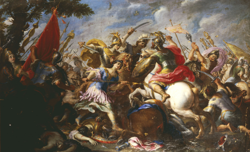 The Battle Of The Amazons by Christie's Images