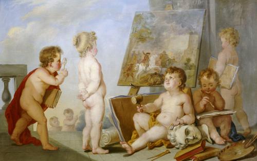 Une Allegorie Des Arts by Charles Eisen