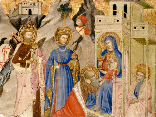 The Adoration Of The Magi, Circa 1400 by Italian School