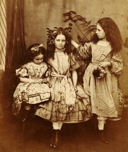 Irene MacDonald, Flo Rankin And Mary MacDonald At Elm Lodge, Hampstead, July 1863 by Charles Lutwidge Dodgson