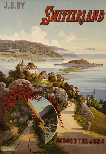 Switzerland Across The Jura, C.1910 by Frederic Hugo d'Alosi