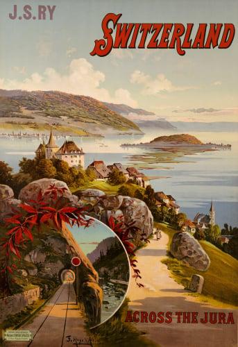 Switzerland Across The Jura C.1910 by Frederic Hugo dAlosi