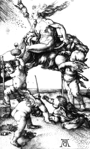 The Witch, Circa 1500 by Albrecht Dürer