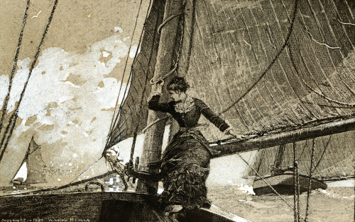 Yachting Girl by Winslow Homer