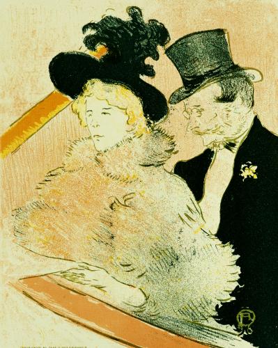 Au Concert, 1896 by Henri de Toulouse-Lautrec