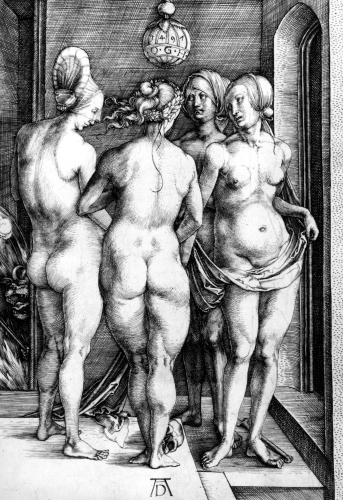 Four Naked Women or The Witches, 1497 by Albrecht Dürer