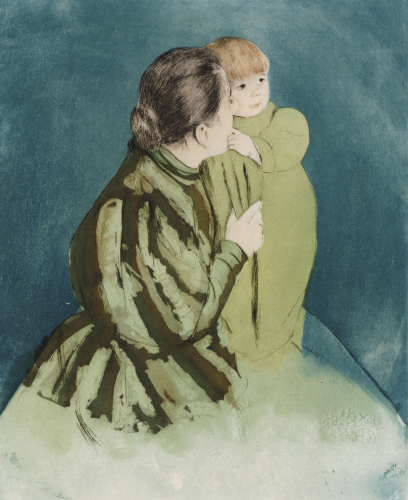 Peasant Mother And Child, Circa 1894 by Mary Cassatt