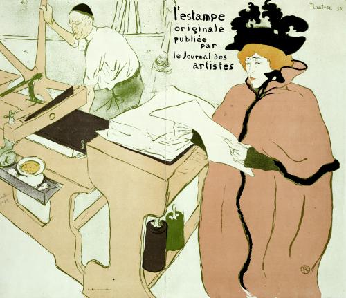 Cover For L'Estampe Originale. Couverture De L'Estampe Originale, 1893 by Henri de Toulouse-Lautrec
