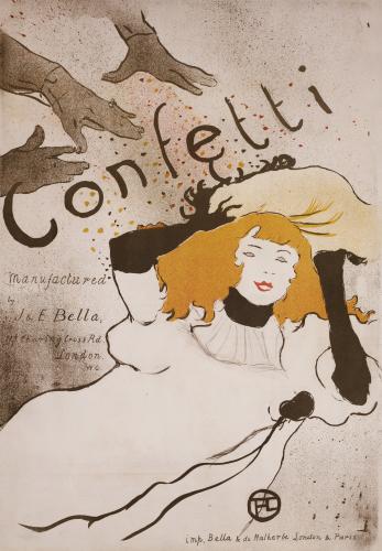 Confetti, 1895 by Henri de Toulouse-Lautrec
