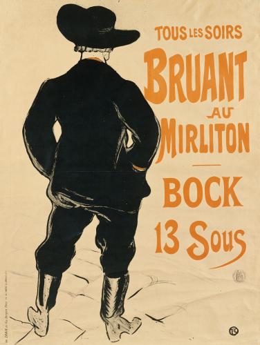 Aristide Bruant, 1893 by Henri de Toulouse-Lautrec