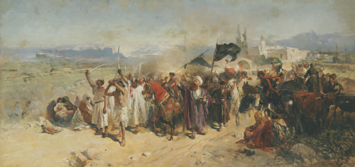 Shi'ite Muslims Commemorating The Martyrdom Of Hussein by Nikolaj Semenovic Samokis