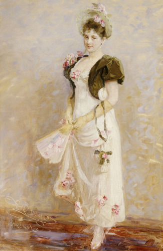 Portrait Of Emma Thomsen, 1893 by Peder Severin Kröyer