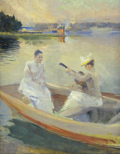 Summer Evening, Borga Harbour, 1889 by Albert Gustaf Aristides Edelfelt