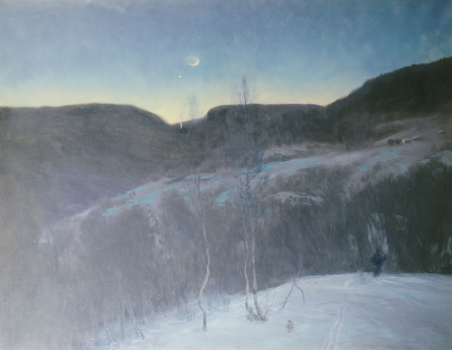 February Evening, 1895 by Christian Skredsvig