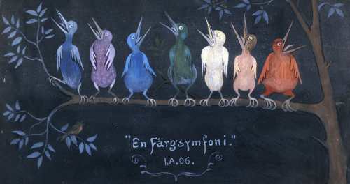 En Fargsymfoni (Symphony In Colour) 1906 by Ivar Arosenius