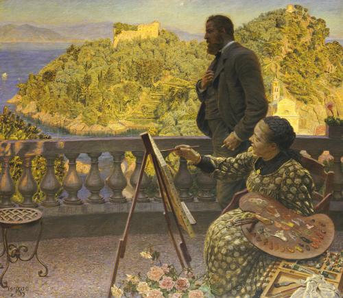 The Emperor And Empress Friedrich III At Villa Carnavon, 1900 by Kristian Zahrtmann