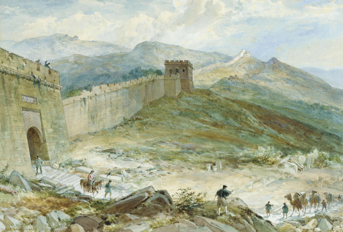 The Great Wall Of China by William Simpson