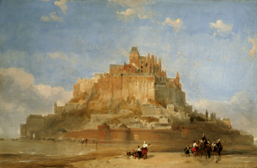 Mont St Michel From The Sands, 1848 by David Roberts