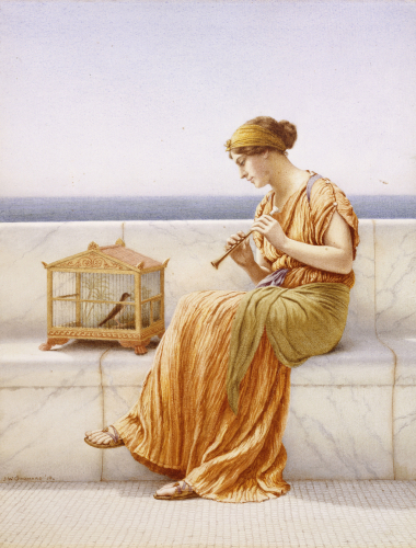 Sweet Sounds, 1918 (Detail) by John William Godward