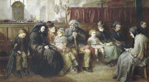 At The Back Of The Church, 1876 by Charles Joseph Staniland