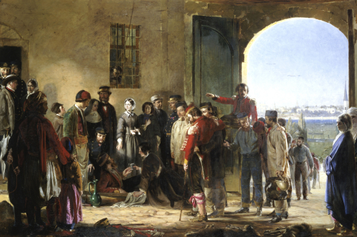 The Mission Of Mercy, Florence Nightingale Receiving The Wounded At Scutari by Jerry Barrett